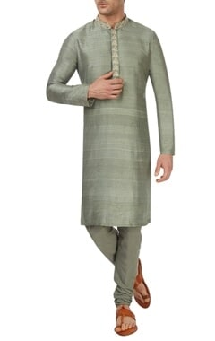 Tea green kurta set