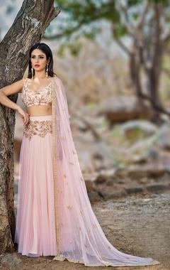 blush pink embellished lehenga set