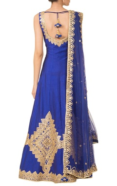 royal blue anarkali set