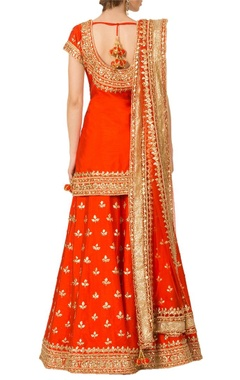 Red gota patti sharara set