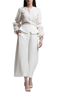 ivory high waist culottes