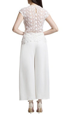 ivory culottes with pockets