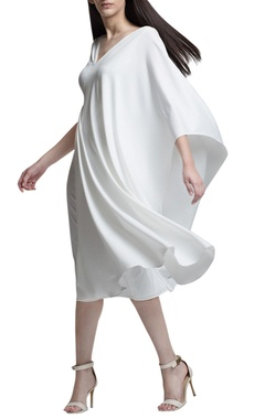 ivory drape dress