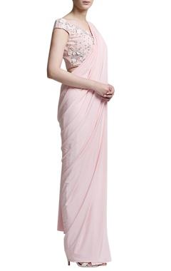 Blush pink sari with blouse