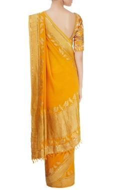 Mango yellow sari & blouse