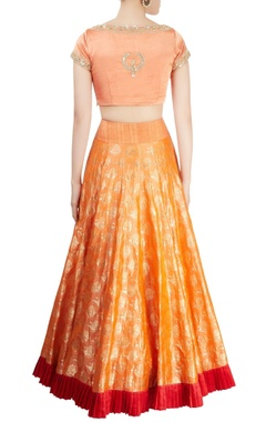 Peach & orange lehenga set