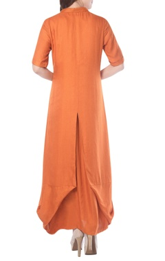 orange draped tunic
