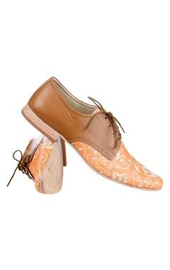 Orange & brown printed shoes