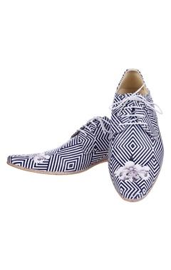 black & white striped shoes
