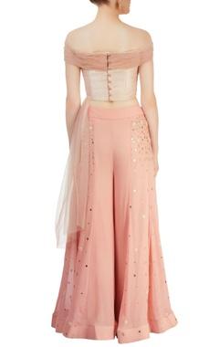 pink embellished pant set