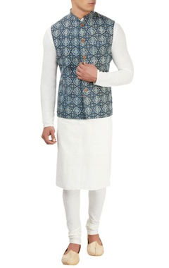 vegetable printed nehru jacket