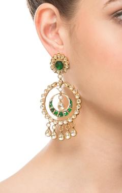 Green stones earrings