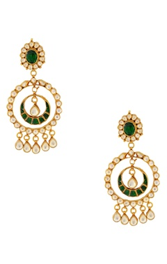 Green stones earrings