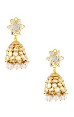 White layered earrings