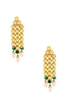 Gold linked earrings