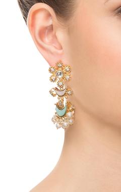 Moon shaped gold earrings