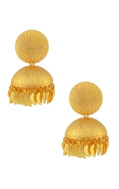Gold jhumka earrings