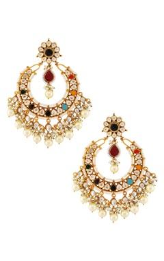 Multicolored stone earrings