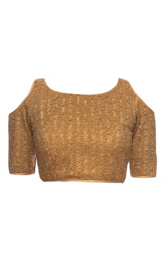 Copper blouse with cold shoulder