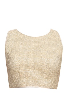 Light gold blouse with wrinkled effect