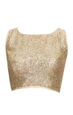 Light gold blouse with sequins