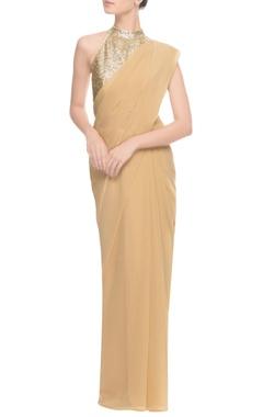 Light gold halter neck blouse