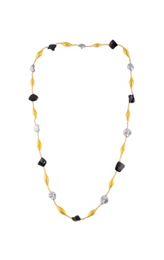 Shilpa Purii Black & gold chained necklace
