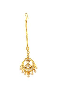 Gold embellished maangtikka