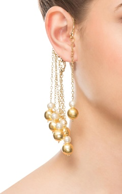 Gold chained ear cuff