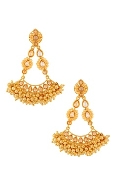 Gold & kundan earring
