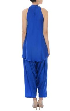 Cobalt blue kurta with dhoti pants