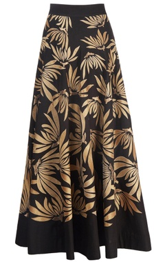 black & gold tissue applique skirt