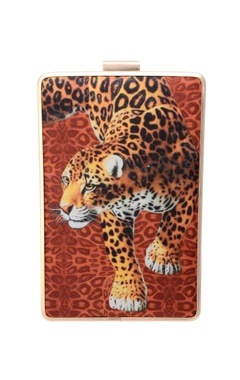 Tiger printed clutch