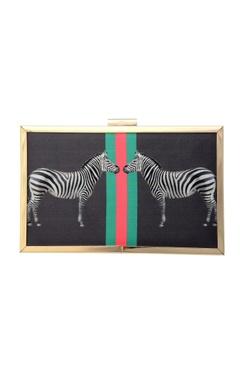 black clutch zebra print