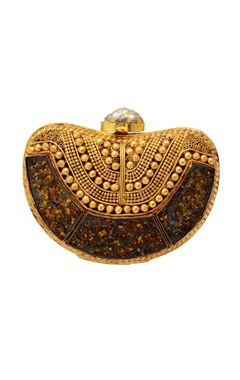 Be Chic Gold beaded clutch
