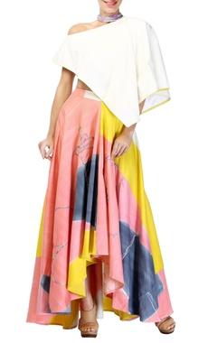 Multicolored skirt set