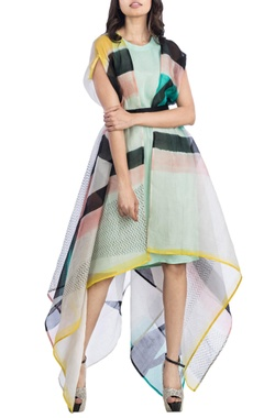 Multicolored jacket dress