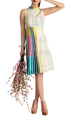 Off-white one sided pleated dress