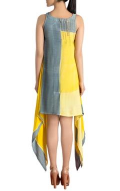 Shaded asymmetrical dress