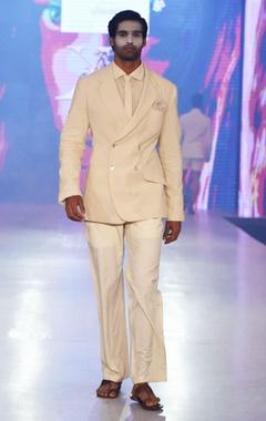 Arjun Khanna Beige linen blazer