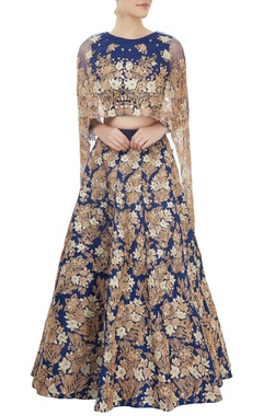 Aneesh Agarwaal Blue embroidered lehenga set