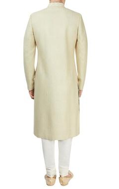 khaki sherwani