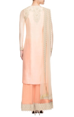 Peach ombre kurta set with skirt