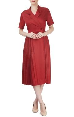 Red overlap dress