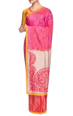 multi colored floral embellished sari