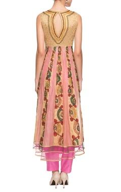 Gold & pink embroidered kurta set