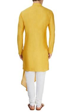 Mustard yellow drape kurta