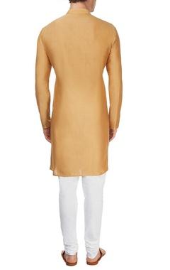 Brown cowl kurta