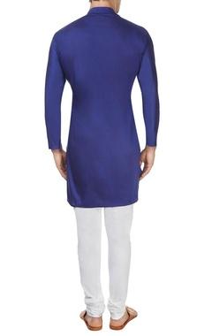 Royal blue cowl kurta