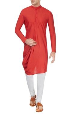 Red cowl kurta